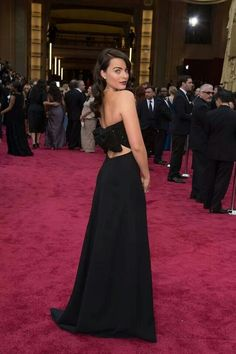 Margot Robbie wearing Yves Saint Laurent gown at Academy Awards 2014