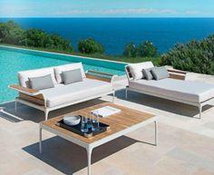 Modular sofa / contemporary / garden / metal MERIDIEN Ethimo