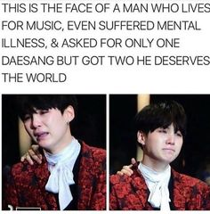 Aw Yoongi don't cry. BTS