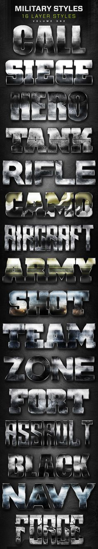 16 Military Layer Styles Volume 1