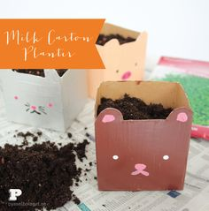 spring+crafts+for+kids+milk+carton+planters