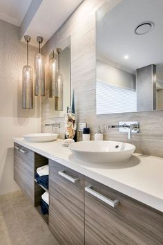 Bathroom lighting ideas for small or large master and guest bathroom. Choose from this article to put together the best bathroom lighting scheme. Bathroom Colors, Small Bathroom, Bathroom Shower Panels, Best Bathroom Lighting, Bathroom Interior Design, Interior Modern, Bathroom Furniture, Amazing Bathrooms, Ikea