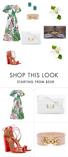 """""""Grenier"""" by dianthesiva ❤ liked on Polyvore featuring Emilio Pucci, Yves Saint Laurent, Aquazzura and Balmain"""