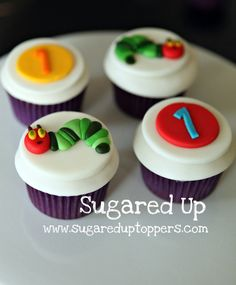 Very Hungry Caterpillar Party // Very Hungry Caterpillar Cupcakes
