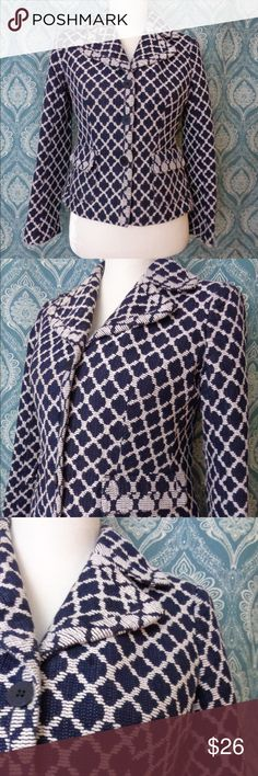 Talbots Abstract Print Balzer Fun and unique Talbots blazer.  It's Talbots, so you could definitely wear it to work and have an classy vibe, but also make it your down (I paired it with skinnys and heels and a bunch of costume jewelry :)~). 🌸🌸 Measurements for your convenience:  Size: 4p Bust: Waist: Length:  🛍️Feel free to make me an offer, I'm happy to negotiate!!  All purchases are freshly laundered and shipped 1-3 postal business days following purchase. All purchases come with a…