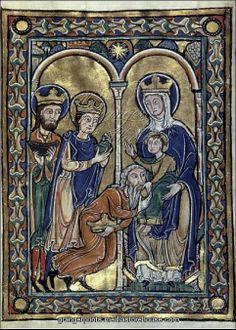 adoration of magi late 12th century or early 13th century french manuscript illumination