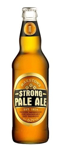 Cerveja Marston's Strong Pale Ale, Extra Special Bitter/English Pale Ale, produzida por Marston's Beer Company, Inglaterra. 6.2%