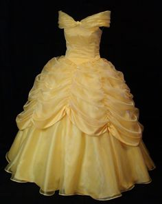 Adult  Beauty and the Beast Yellow Gown Custom Costume. $700.00, via Etsy.
