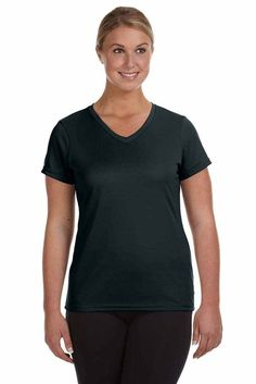 9f6757e5454 Augusta Sportswear Womens Moisture Wicking Polyester Short Sleeve V-Neck  T-Shirt 1790