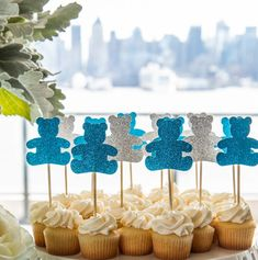 Just a few weeks ago a client reached out to us looking for some help planning her sisters baby shower. She had a venue in place and just needed some help with decor and food. Could that be any cuter for a baby shower? Baby Shower Decorations For Boys, Boy Baby Shower Themes, Baby Shower Gender Reveal, Baby Shower Centerpieces, Baby Boy Shower, Teddy Bear Centerpieces, Baby Shower Cupcakes Neutral, Blue Teddy Bear, Teddy Bears