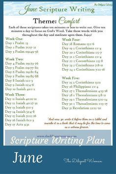 Scripture-Writing-Plan-June.jpg 735×1,102 pixels❤️