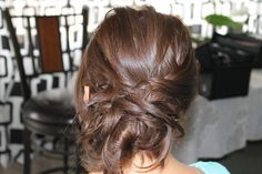 Messy updo #hair #updo