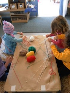 """Just be! Early Childhood Education: inspirations for life: Stitching & sewing with real needles ("""",)"""
