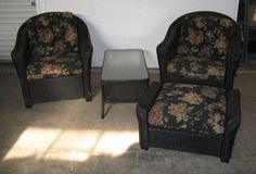 Lloyd Flanders Outdoor Furniture Set, Black Wicker.. this would do but it's in Bloomington, IL!