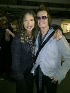 Ladies and Gentleman... 2 singers... Steven Tyler and Glenn Hughes Hollywood March 9 013...