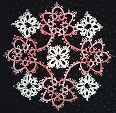 Image result for Pattern for a larger tatted shamrock..