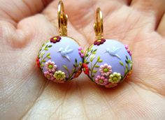 Reserved Lavander Spring that never goes away earrings with