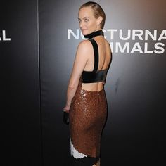 Amber Valetta in a TOM FORD gown