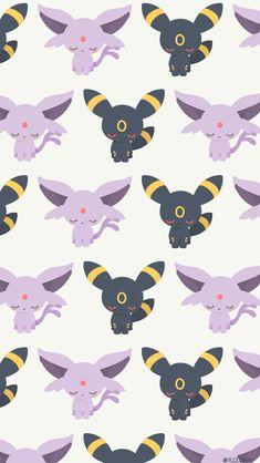 Cute Pokemon Wallpaper, Cute Disney Wallpaper, Cute Cartoon Wallpapers, Kawaii Wallpaper, Cute Wallpaper Backgrounds, Wallpaper Iphone Cute, Umbreon And Espeon, Pokemon Eeveelutions, Eevee Evolutions