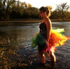 Adult Women's Organza and Tulle Rainbow Tutu by OutrageousRainbows