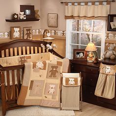 Eddie Bauer 4-pc. Teddy Bear Crib Set