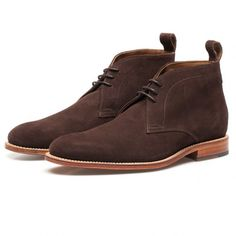 Grenson Brown Suede Marcus Chukka Boots