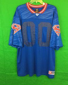 DC Comics Superman Logo Blue Jersey Size Large NWT Gift   | eBay