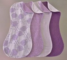 Livie Paige Lavender Flowered Burp Cloth Set in Terry by wevegotyoucovered2, $16.00