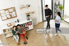 Stock Photo : Business men and women in the studio