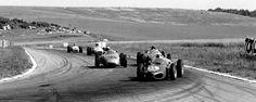Giancarlo Baghetti voor Dan Gurney en Jo Bonnier, GP Frankrijk 1961