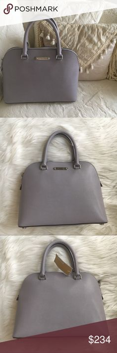 43d209881076 Michael Kors satchel Large lilac Cindy Dome satchel in Saffiano leather  with silver tone hardware by