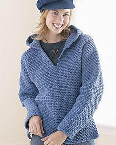 Ravelry: Crochet Hooded Sweatshirt (Ladies) pattern by Bernat Design Studio
