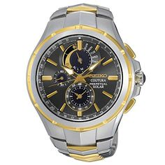 Seiko Coutura Solar Perpetual Chronograph Two Tone Mens Watch SSC376 Solar  Watch c9ce53f452b