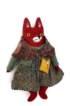 Who doesn't love a stuffed fox? Mimi Kirchner brings whimsy to her doll creations at the Smithsonian Craft Show, April Stuffed Fox, April 26, Textile Art, Bring It On, Textiles, Writing, Dolls, Crafts, House