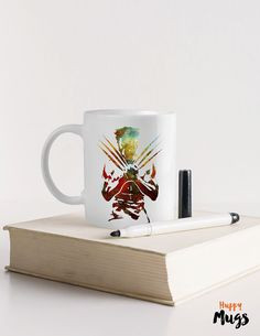 Marvel Hero Mug Watercolor Personalized gift Gift mug by HuppyMugs