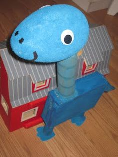 Dinosaur Kids Craft from Recycled Boxes
