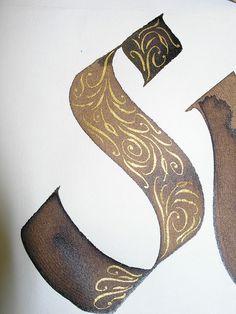 "Le ""S"" se la joue en 3D ! / 3D ""S"". / By the artist Jane Farr."