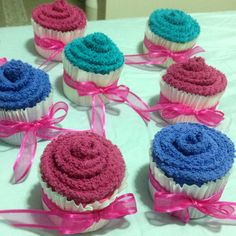 """Cupcake"" towels my mom made"