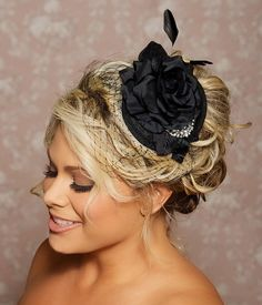 Black Headpiece, Black Birdcage Fascinator, Black Wedding headpiece with Birdcage Veil, Bridal Hair Accessories, Halloween Wedding Headpiece on Etsy, $101.59 CAD