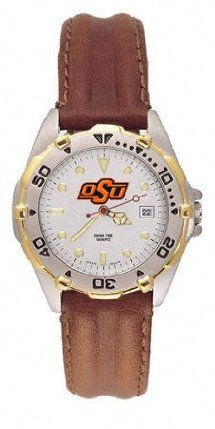 Oklahoma State Cowboys All Star Women's Leather Watch by Logo Art. $122.99. Great gift for the Texas A Aggies fan on your list! Give them this rugged, reliable Citizen quartz watch and they'll never be late for another game (or tailgate party). Features official Texas A Aggies logo on face, date window, rotating bezel, scratch-resistant mineral crystal, and leather strap . It's covered by a 2-year warranty and comes in a handsome exclusive tin gift box.