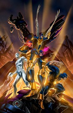 ArtStation - All-New X-Men, Peejay Catacutan Comic Movies, Comic Book Characters, Marvel Characters, Comic Books Art, Comic Art, Netflix Movies, Marvel Comic Books, Book Art, Xman Marvel