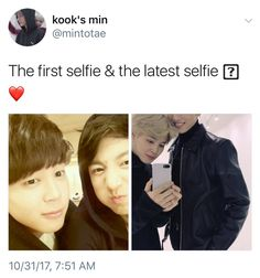 Jungkook and Jimin selca before and now