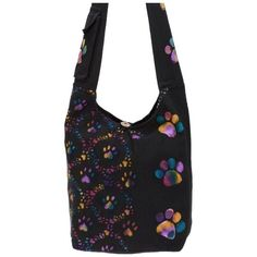 Brimming with love for your four-legged friends! Decorated with walking paw prints, this cotton patchwork hobo bag includes a pocket on the shoulder strap. Coach Handbags Outlet, Animal Rescue Site, Patchwork Bags, Four Legged, Fabric Scraps, Hobo Bag, 5 D, Shoulder Strap, Tie Dye