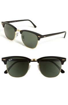 Ray-Ban 'Classic Clubmaster' 51mm Sunglasses available at #Nordstrom.....WANT SO MUCH BUT SO EXPENSIVE