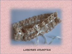 Crochet vintage bridal garter/Liga de novia de crochet vintage