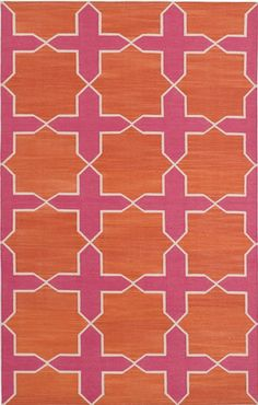 Madeline Weinrib Pink & Orange Westley Cotton Carpet