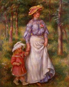 The Promenade (Julienne Dubanc and Adrienne) - Pierre-Auguste Renoir