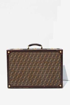 90dc52ec5de4 Fendi Zucca Leather Suitcase - Accessories Leather Suitcase