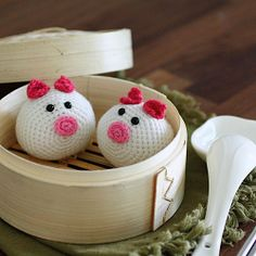 Need something cute to crochet? Try this easy and quick to make Amigurumi Piggy Bun .