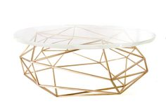 Archimedes bronze w/ glass coffee table www.mshively.com
